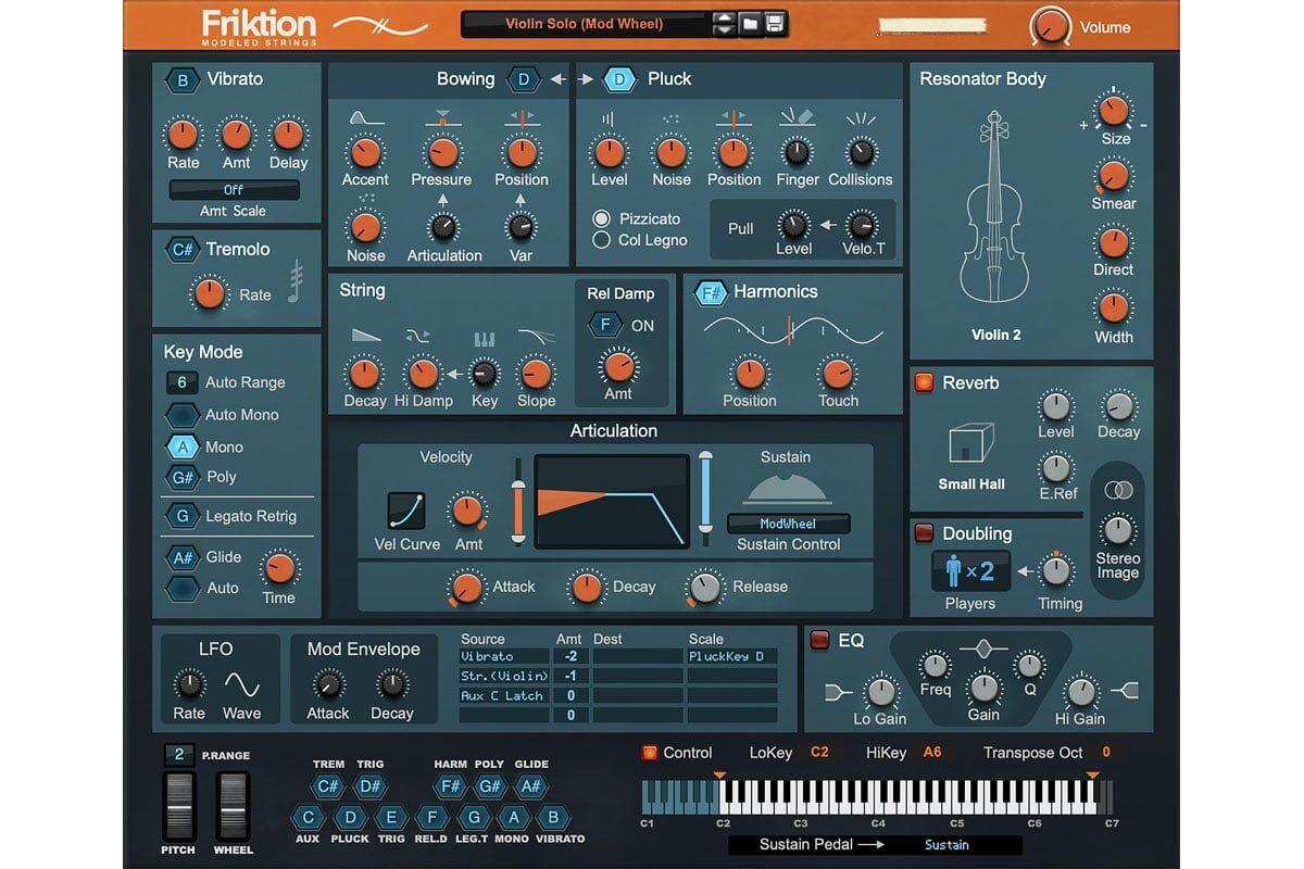 Reason Studios Friktion Modeled Strings