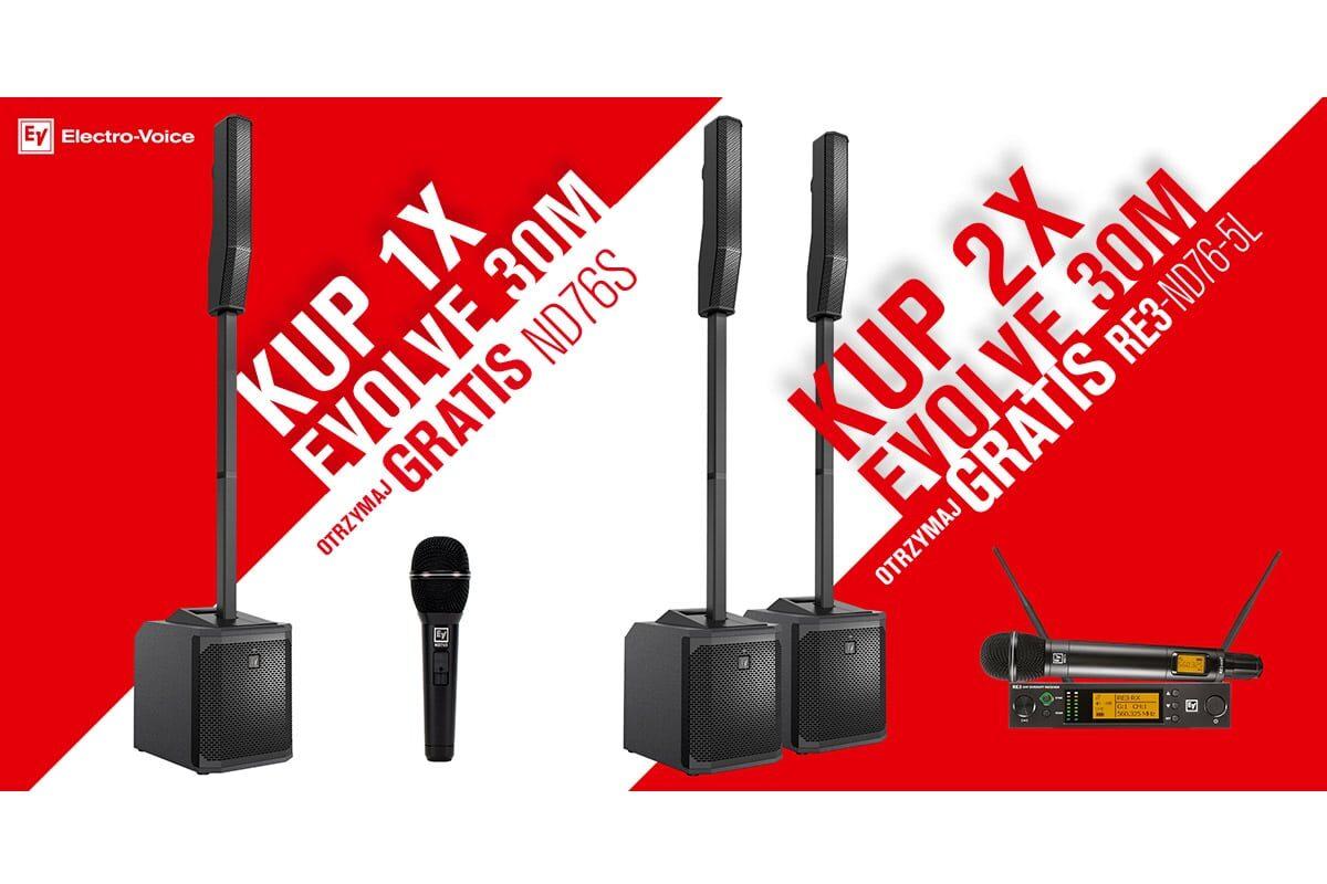 Electro-Voice EVOLVE 30M – promocja z mikrofonem gratis