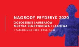 Laureaci nagród Fryderyk 2020 ogłoszeni