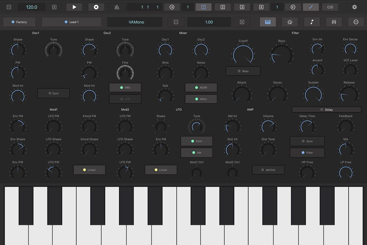 RT Music Software VAMono – syntezator dla iOS