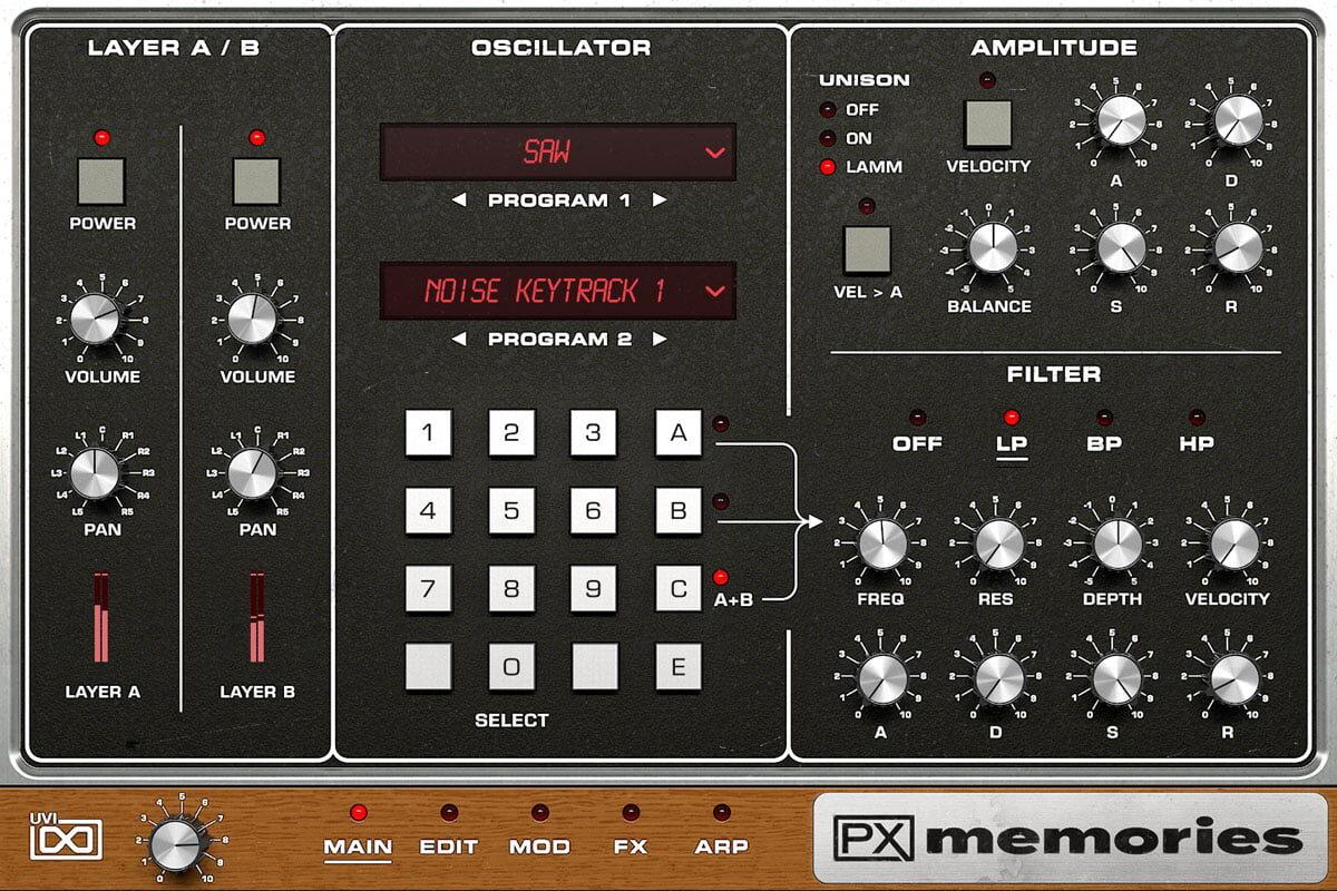 UVI PX Memories – nowy syntezator wirtualny