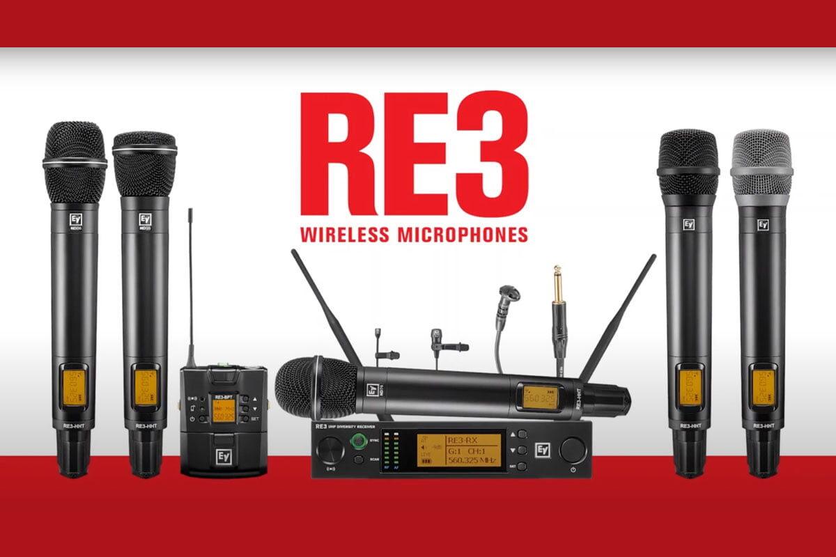 Electro-Voice przypomina o systemach bezprzewodowych RE3