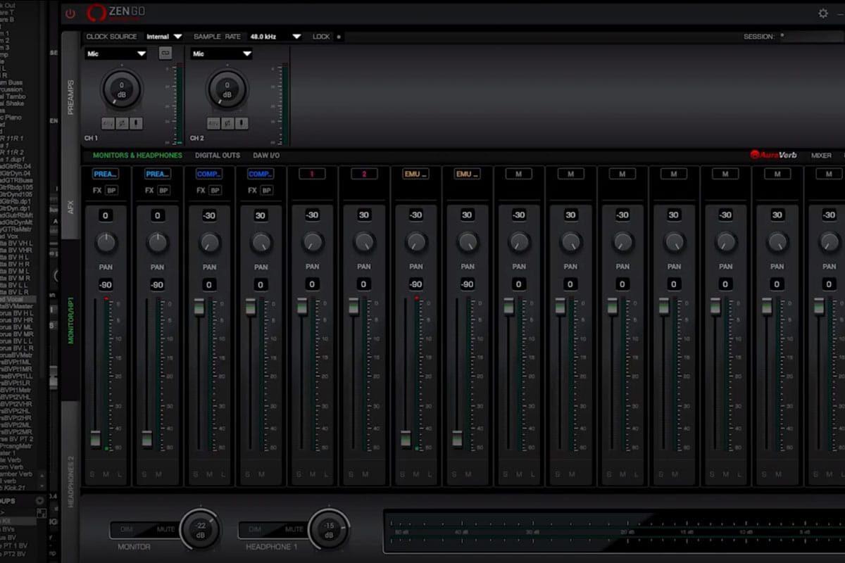 Antelope Audio Zen Go Synergy Core – panel sterowania (wideo)