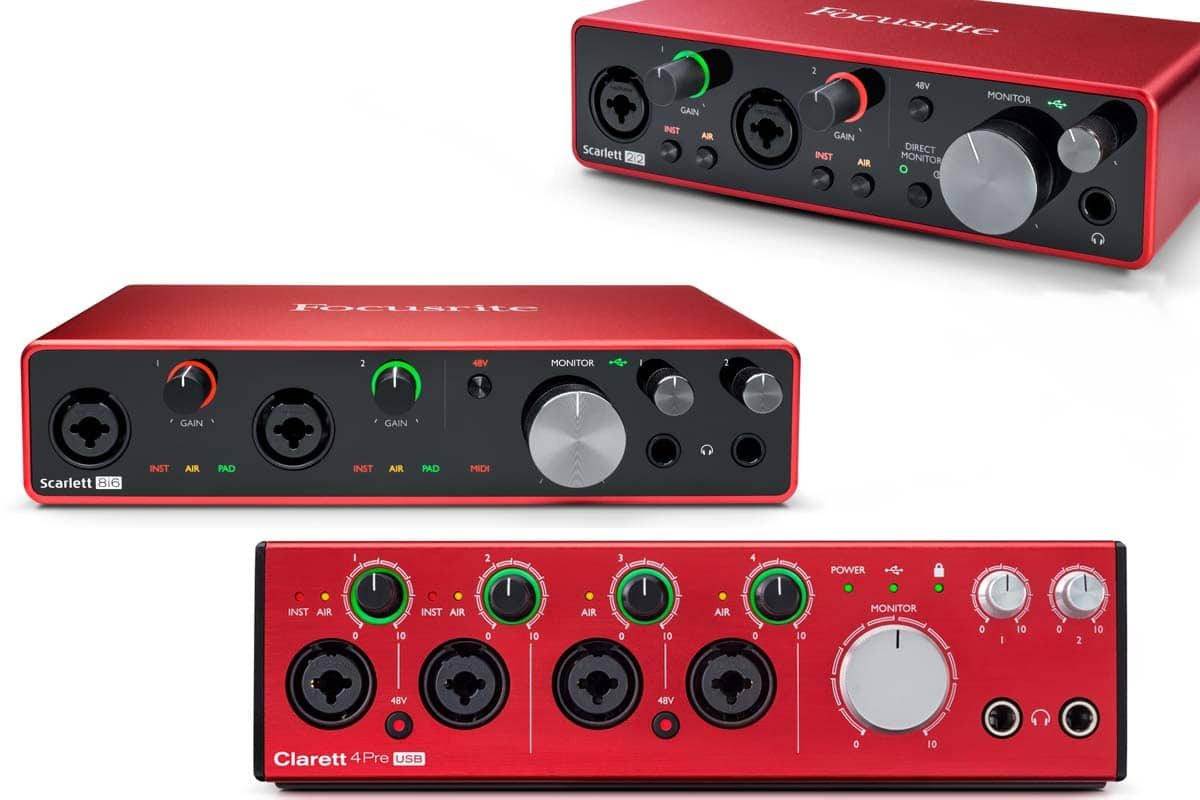 Przegląd – interfejsy audio USB: Focusrite