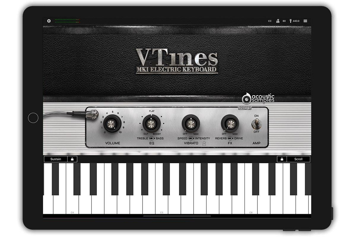 AcousticSamples VTines Live – pianino Rhodes dla iOS