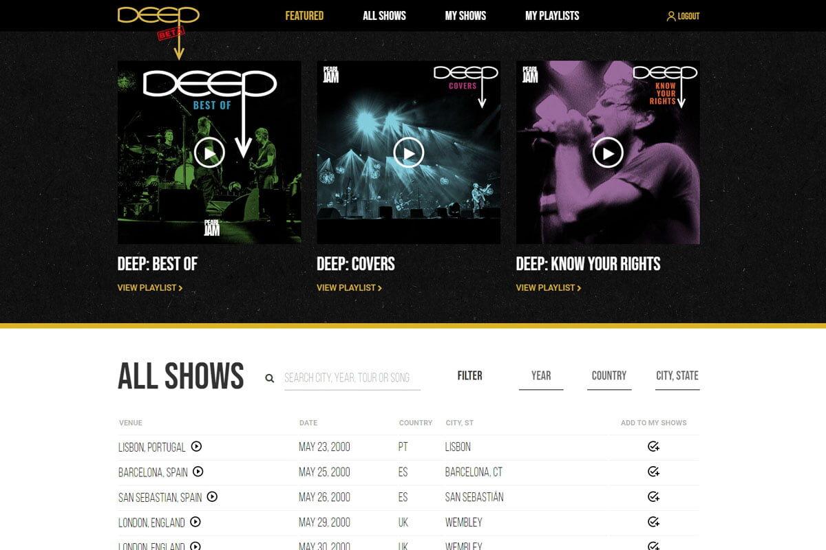Ponad sto koncertów Pearl Jam dostępnych w Internecie