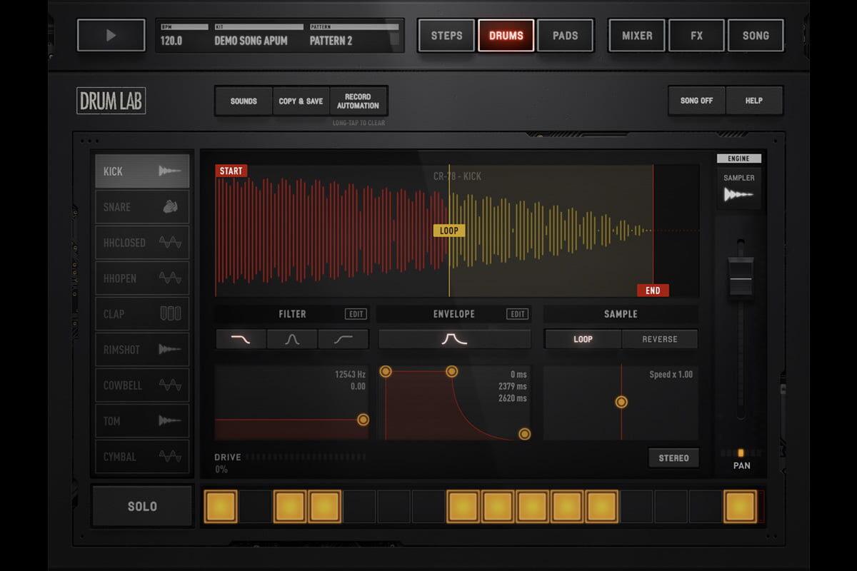 Audionomy DRUMLAB – wirtualny automat perkusyjny