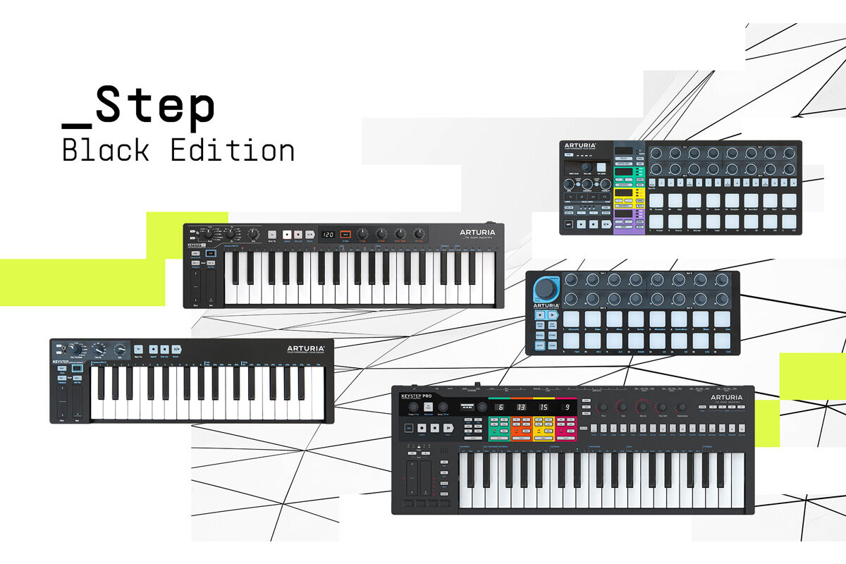 Step Black Edition – limitowane kontrolery Arturia w czarnym wykończeniu