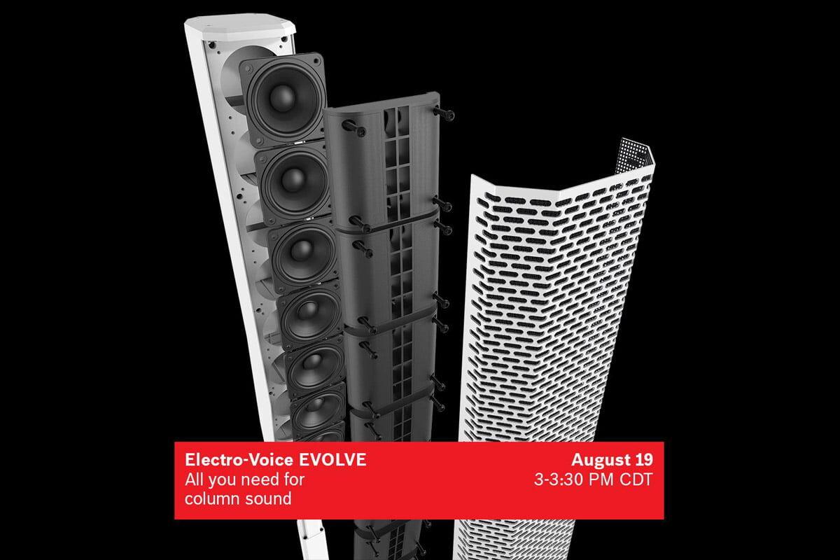 Electro-Voice zaprasza na webinar poświęcony systemom EVOLVE