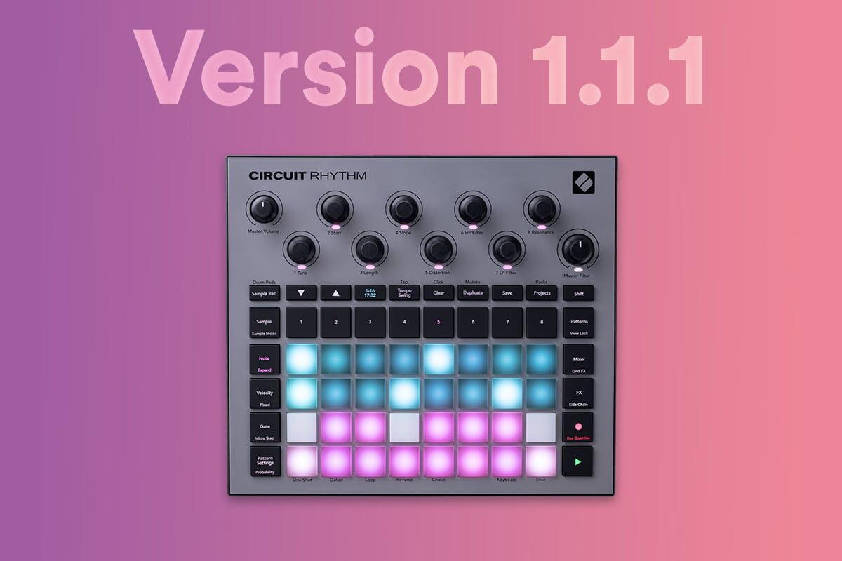Novation Circuit Rhythm v1.1.1 – nowy firmware