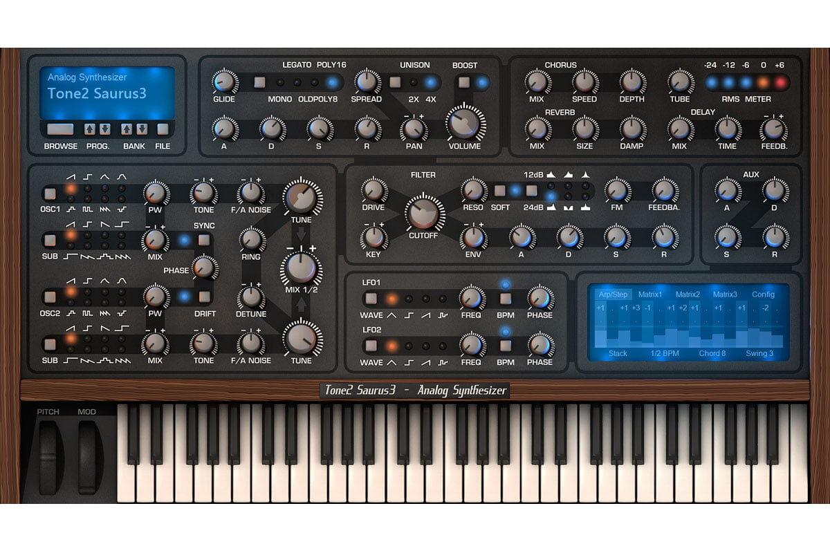 Tone2 Saurus 3 – nowy syntezator wirtualny
